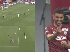 Le but de Davide Villa. Capture/J1League