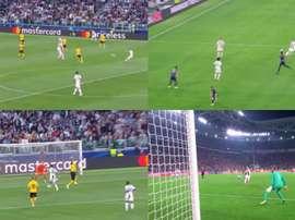 Dybala y Cristiano anotaron dos golazos idénticos. EFE