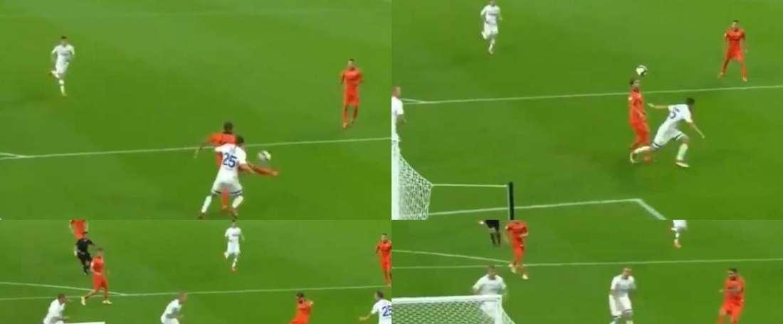Bicfalvi anotó el primer gol del partido. Captura/ivann8lopez
