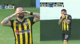 Las lágrimas de un hijo tras marcar el gol que elimina a su padre. Captura/TLT