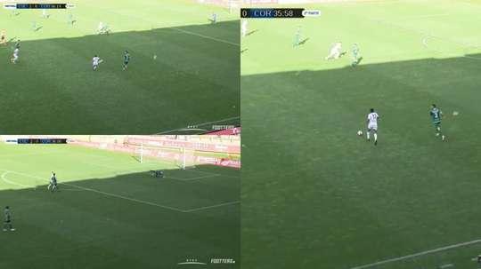 Kawaya protagonizó el mejor gol del encuentro. Captura/Footters