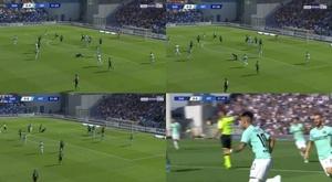 Le 'tourbillon' Lautaro marque au bout de 2 minutes. Capturas/BeInSports