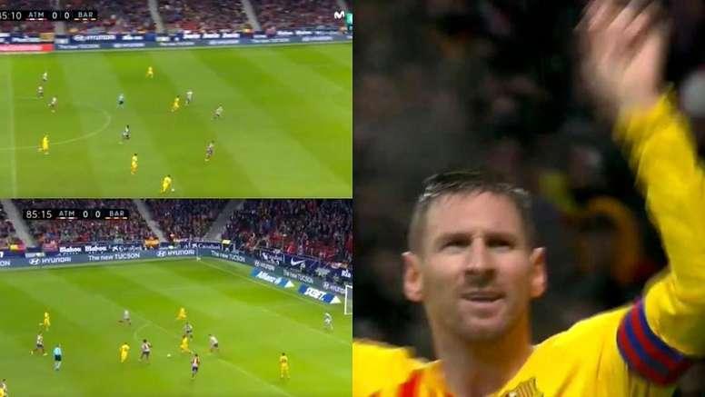 Le but de la victoire de Messi contre l'Atlético. Capture/MovistarLaLiga
