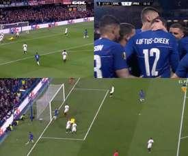 Loftus-Cheek ouvre la marque pour Chelsea. Capture/GOL
