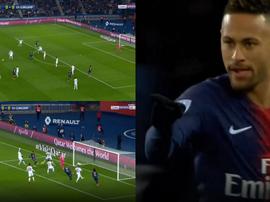 Neymar marcó en el minuto 11. Captura/beINSports