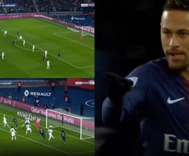 Neymar marcou ao minuto 11. Captura/beINSports