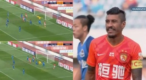 Paulinho é destaque da temporada do Guangzhou Evergrande. Capturas/JayusSports