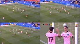 Coutinho sblocca il risultato. BarçaTV+