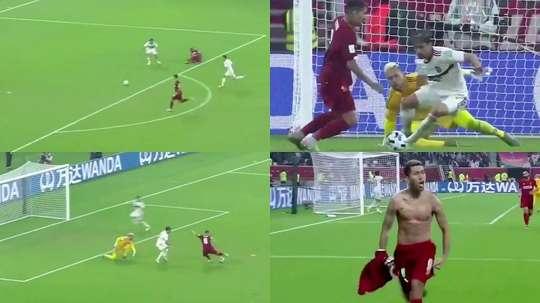 Firmino sacre Liverpool grâce à un crochet mortel. Capture/DAZN