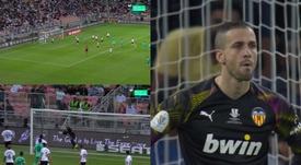 Kroos cobra rápido e surpreende com gol olímpico. Captura/Movistar+