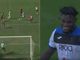 Zapata won the game for Atalanta with a stunner. Montaje/beINSports