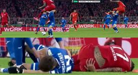 Boateng pudo hacer muchísimo daño a Baumgartner. Captura/One