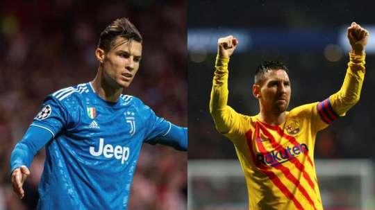 Ronaldo et Messi sur le podium du classement. Montaje/EFE
