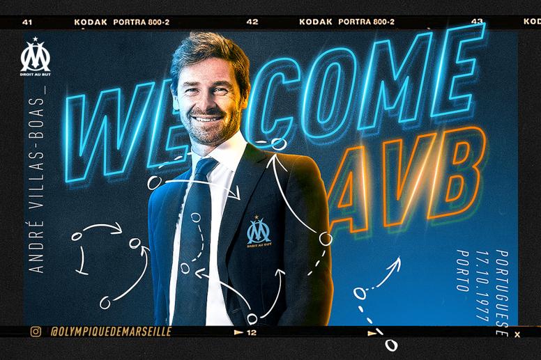 André Villas-Boas entrenará al Olympique de Marsella. Twitter/OM_Officiel