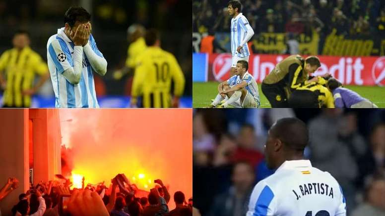 El Málaga se redimió ante Osasuna. AFP/Canal+