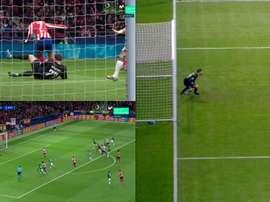 Aos 2 minutos de jogo, Trippier desperdiça uma penalidade. Captura/Movistar