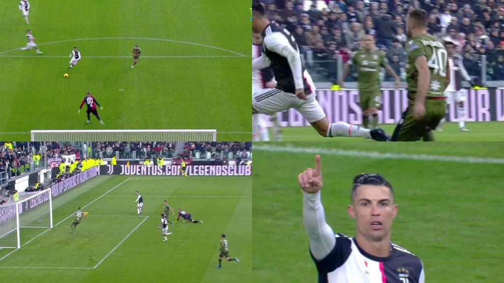 Ronaldo Scores His First Hat-trick Of 2020