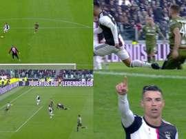 Doublé de Cristiano Ronaldo pour célébrer la nouvelle année. Captura/Vamos
