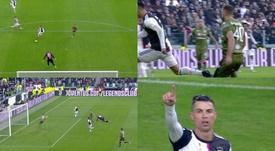 Cristiano Ronaldo put Juventus ahead. Captura/Vamos