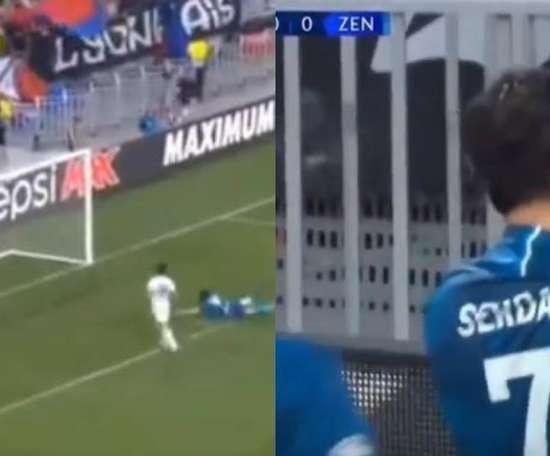 The 'Iranian Messi' scored the first Champions League 2019-20 goal. Captura/Movistar