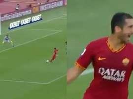 Mkhitaryan estreia muito bem no Roma. Capturas/Movistar