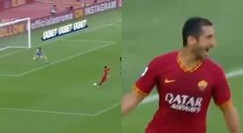 Il primo goal di Mkhitaryan con la maglia della Roma. Movistar