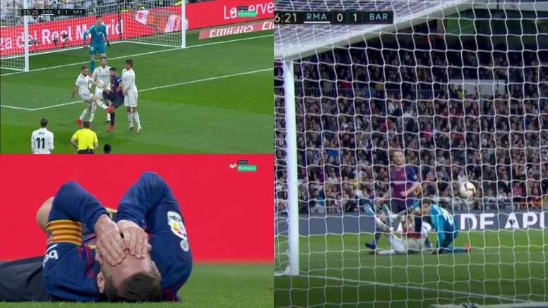 Rakitic reflejó en el marcador el dominio del Barça en la primera parte. Captura/Movistar Partidazo