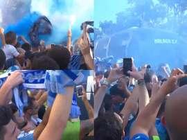 L'accueil des joueurs à la Rosaleda. MalagaCF