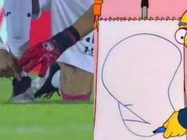A tatuagem viral de Mariano Andújar. Captura/TNTSports