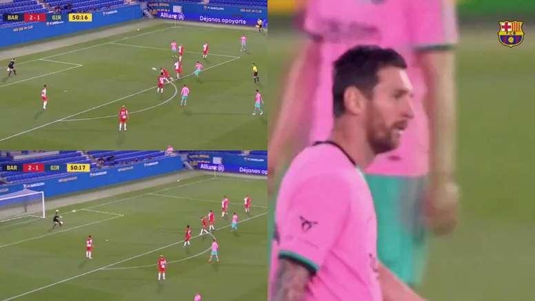 Messi firmó el tercero. Capturas/BarçaTV+