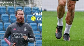 Sergio Ramos in his new Adidas boots. Screenshot/SergioRamos