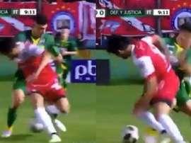 El centrocampista dejó su sello de calidad en el partido. Captura/TotalArgentina