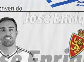 Le Real Saragosse souhaite la bienvenue à José Enrique. RealZaragoza