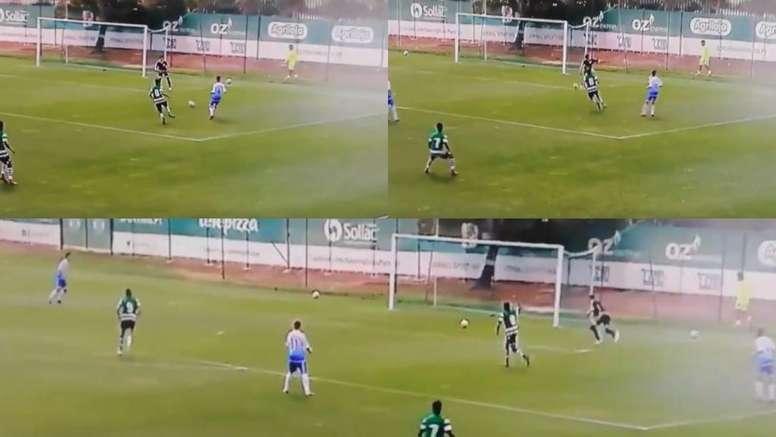 El equipo Sub 17 del Sporting arrancó ganando a los 13 segundo. Capturas/MartinCharquero