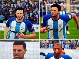Montaje de jugadores del Málaga en FIFA 18. BeSoccer