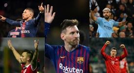 Los nombres propios del gol en Europa. BeSoccer/EFE/AFP