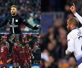 Le PSG, Tottenham et Liverpool se disputeront la dernière place. AFP/EFE