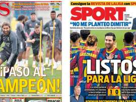 Portadas de la prensa deportiva del 20-09-20. AS/Sport