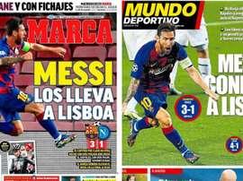 Portadas de la prensa deportiva del 09-08-20. Montaje/Marca/MD