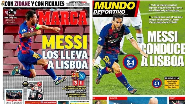 Capas das revistas Marca e MD de 09-08-20. Montagem/Marca/MD