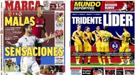 Les Unes des journaux sportifs en Espagne du 20 octobre 2019. Marca/MD