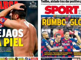 Portadas de la prensa deportiva del 13-08-20. Marca/Sport