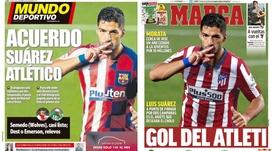 Capas das revistas Mundo Deportivo e Marca 22-09-20. Montagem/MundoDeportivo/Marca