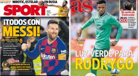 Capas dos portais Sport e AS do dia 07-12-19. Sport/AS