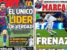 Estas son las portadas de la prensa de hoy. Montaje/Sport/AS