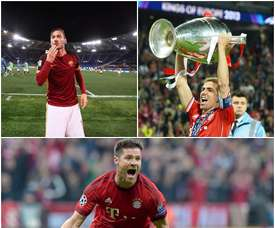 Collage Xabi Alonso, Lahm et Totti. Besoccer