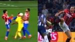 Cabreo en el Atleti: lo que para Griezmann fue roja, para Ibra se quedó en amarilla