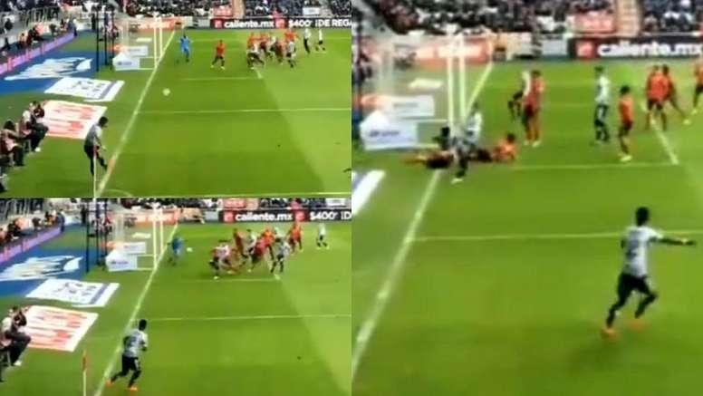 Meza anotó el gol de la jornada. Capturas/FoxSports