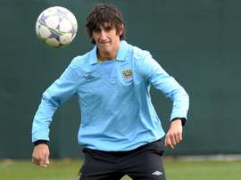 Montenigrin international defender Stefan Savic, pictured in training on November 21, 2011, signed for Spanish side Atletico Madrid from Serie A outfit Fiorentina