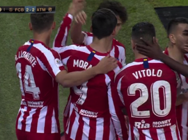 Atletico victorious over Barcelona to go through through to Super Cup final. Captura/Movistar+